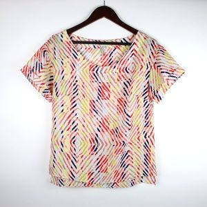 BCBGeneration Colorful Striped Blouse SMALL